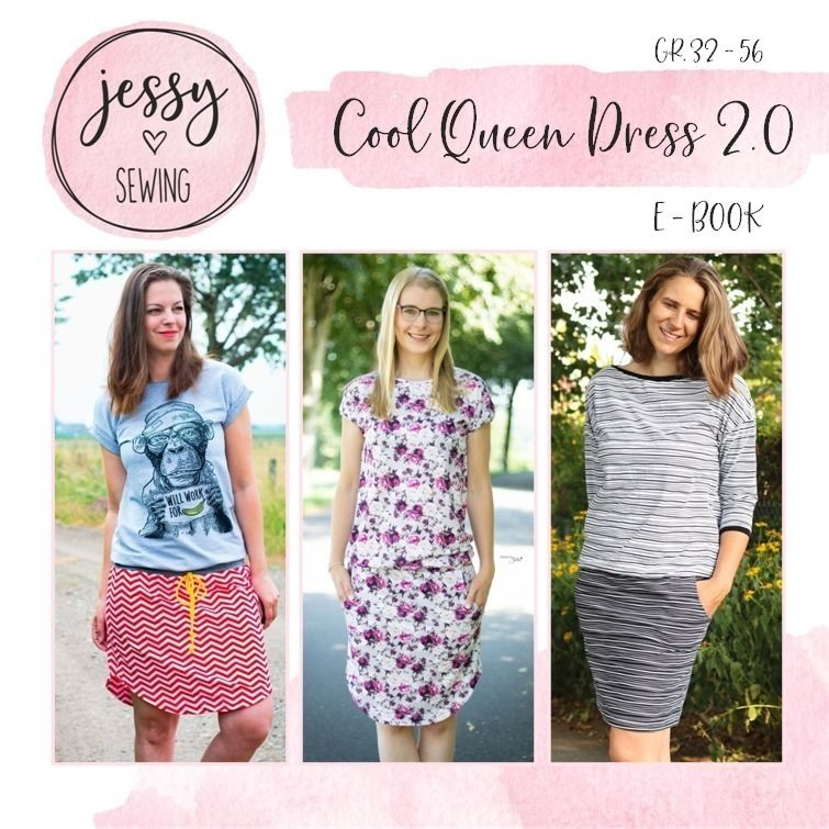 Schnittmuster Pattarina: Cool Queen Dress 2.0 von Jessy Sewing